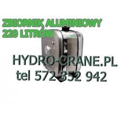 ZBIORNIK ALUMINIOWY 220L DO WYWROTU